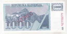 Slovenia 1000 Tolarjev Unc , Specimen , Pick 9s1 - Slovénie
