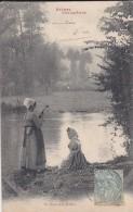 FEMMES----scènes Champêtres---au Bords De La Rivière---voir 2 Scans - Femmes