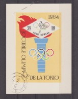 JEUX OLYMPIQUES DE TOKYO 1964  ROUMANIE BLOC FEUILLET - Verano 1964: Tokio