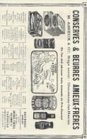 Conserves  & Beurres/Encart Publicitaire/Amieux Fréres/Chantenay/NANTES/Catalogue Export Lacarriére/1901   ILL65 - Alimentaire