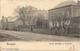 MOMIGNIES : Cercle Catholique Et Presbytère - Cachet De La Poste 1907 - Momignies