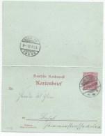 B977 - Frontalier HUNINGEN - 1902 - Haut Rhin - Entier Postal 10 Reichspost - Pour BALE En SUISSE - - Elsass-Lothringen