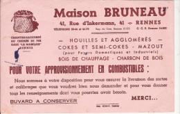 BUVARD   PRODUITS COMBUSTIBLES        MAISON BRUNEAU  RENNES - Hydrocarbures