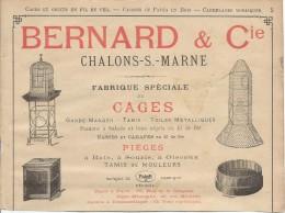 Industrie/Fabrique De Cages/Encart Publicitaire/Bernard/CHALONS-s-MARNE/Annuaire Didot-Bottin/1905  ILL57 - France