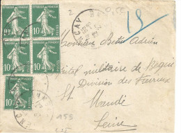 N° 159 X 5 Sur Lettre De PONCAY Du 12/6/27 - 1921-1960: Modern Tijdperk