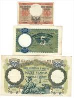 10 Lek 1940 + 5 Franga 1939 + 100 Franga 1940  LOTTO 1030 - Albania