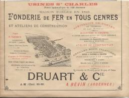 Industrie/Fonderie De Fer/Encart Publicitaire/Druart/REVIN/Ardennes/Annuaire Didot-Bottin/1905  ILL52 - France