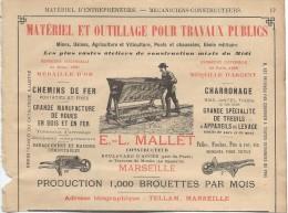 Industrie/Materiel Et Outillage Pour TP/Encart Publicitaire/Mallet / MARSEILLE/Annuaire Didot-Bottin/1905  ILL47 - France