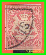 GERMANY -  /  IMPERIO  BAYER  -  AÑO 1867 -COAT OF ARMS - Usados