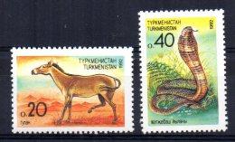 Turkmenistan - 1992 - Wild Ass & Cobra - MNH - Turkménistan