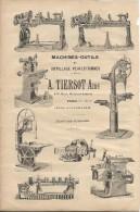 Industrie/Machines Outils/Encart Publicitaire/Tiersot Ainé/PARIS/Annuaire Didot-Bottin/1905  ILL44 - France