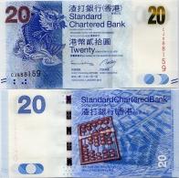HONG KONG - SCB     20 Dollars     P-297c      1.1.2013         UNC - Hong Kong