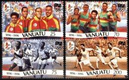VANUATU, 1996, OLYMPIC GAMES, SPORTS, YV#1009-12, MNH - Vanuatu (1980-...)