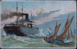 'Hold To Light'  Ship Postcard  C1910 - Hold To Light