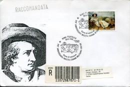5856 Italia,   Fdc Registered Circuled 1999   Johan Wolfgang Goethe - Célébrités