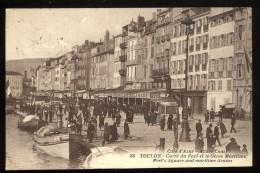 83 Var Toulon 66 Carré Du Port Et Le Génie Maritime Animée 1927 Cote D'Azur Grand Café De La Rade - Toulon