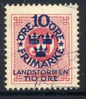 SWEDEN 1916 Landstorm Fund On Ring Type 10 / 50 öre Used.  Michel 95 - Used Stamps