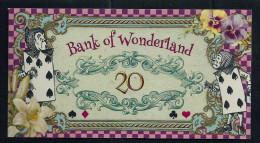 "Spielgeld ""ALICE IM WUNDERLAND"" 20 Units, Training, Education, Play Money, 130 X 70 Mm, RRR, UNC - Münzen & Banknoten"