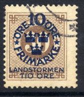 SWEDEN 1916 Landstorm Fund On Ring Type 10 / 30 öre Used.  Michel 94 - Used Stamps