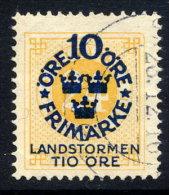 SWEDEN 1916 Landstorm Fund On Ring Type 10 / 24 öre Used.  Michel 93 - Used Stamps