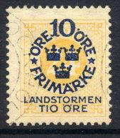 SWEDEN 1916 Landstorm Fund On Ring Type 10 / 24 öre Used.  Michel 93 - Sweden