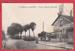 CPA * 21 * CHAILLY-en-BIÈRE *  La POSTE Et Route Nationale  * Animation ** EdiT . Cantl.. N° 3  VOIR Scan Recto / Verso - Other Municipalities
