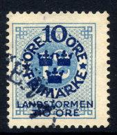 SWEDEN 1916 Landstorm Fund On Ring Type 10 / 12 öre Used.  Michel 91 - Sweden