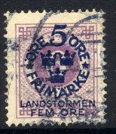SWEDEN 1916 Landstorm Fund On Ring Type 5 / 6 öre Used.  Michel 90 - Used Stamps