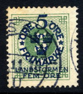 SWEDEN 1916 Landstorm Fund On Ring Type 5 / 5 öre Used.  Michel 89 - Sweden