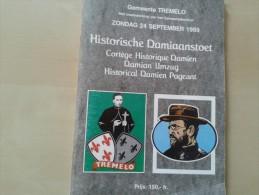 Gemeente Tremelo Historische Damiaanstoet 24/09/1989, 112 Blz., 1989 - Pratique