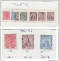 Trinite,lot, 38,39,40,44,45,46, 80 Sur Charnière - Trinité & Tobago (...-1961)