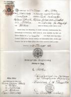 DOK32KON.PR.REGIERUNG Zu BRESLAU 1872 LEICHENBEGLEITSCHEIN SIEHE ABBILDUNG - Historische Dokumente