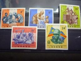 REP.DEM.DE CONGO 633/637 ONGET-NON DENTELER  Xx ( COB ) COTE: 12.50 EURO  ( A ) - Neufs