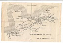VP.0136/ Excursions E. Paris Trouville - Carte Normandie - Dépliants Turistici