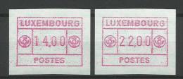 TIMBRES D´AFFRANCHISSEMENT DU LUXEMBOURG TD N° 2   - SERIE INDIVISIBLE (14F, Et 22F) NEUFS SANS CAHARNIERE. - Postage Labels