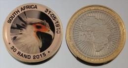 Afrique Du Sud 30 Rand 2015 Bimetal Couleurs Animal - Afrique Du Sud