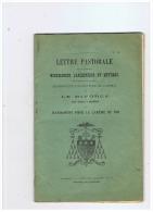 LIVRE LETTRE PASTORALE  LE DIVORCE MANDEMENT POUR LE CAREME DE 1913 ARCHEVEQUE DE CAMBRAI (NORD) - Religion & Esotérisme