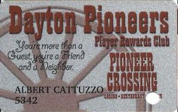 Dayton Pioneer Crossing Casino - Dayton, NV - PRINTED Slot Card - Casino Cards