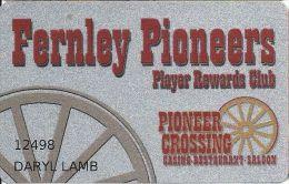 Fernley Pioneer Crossing Casino - Fernley, NV - Slot Card - Casino Cards