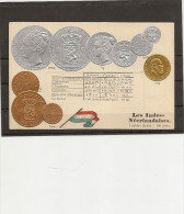 Monnaies Representations Cartes Gauffrée, Serie HSM Berlin,monnaie Et Tableau De Change Indes Neerlandaises - Monete (rappresentazioni)