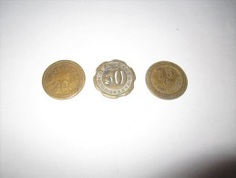 3 JETONS -----20=50=75--CENTIMES--A--CONSOMMER-----SUP - Monetary / Of Necessity