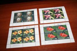 Flowers Grenada  Rare Mini-sheets - Plants