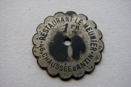 1 Franc Restaurant Le Meunier Paris - Professionnels / De Société
