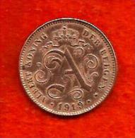 Belgique.Pièce De 2.ct.fl.1919 - 1909-1934: Albert I