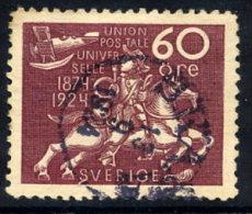 SWEDEN 1924 UPU Anniversary 60 öre  Used.  Michel 169 - Sweden