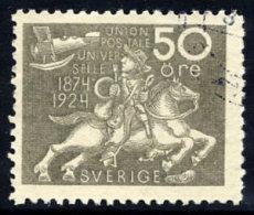 SWEDEN 1924 UPU Anniversary 50 öre  Used.  Michel 168 - Sweden