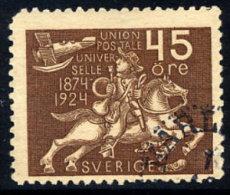 SWEDEN 1924 UPU Anniversary 45 öre  Used.  Michel 167 - Sweden