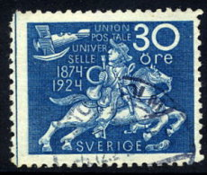 SWEDEN 1924 UPU Anniversary 30 öre  Used.  Michel 164a - Sweden