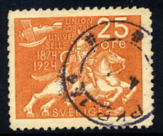 SWEDEN 1924 UPU Anniversary 25 öre  Used.  Michel 163 - Sweden