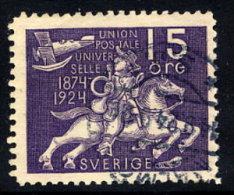SWEDEN 1924 UPU Anniversary 15 öre  Used.  Michel 161 - Sweden